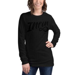 Infineight Stealth Logo Unisex Long Sleeve Tee